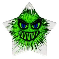 Monster Green Evil Common Star Ornament (Two Sides)