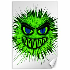 Monster Green Evil Common Canvas 24  x 36