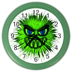 Monster Green Evil Common Color Wall Clocks