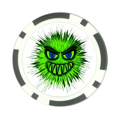 Monster Green Evil Common Poker Chip Card Guard