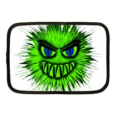 Monster Green Evil Common Netbook Case (Medium)