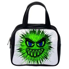 Monster Green Evil Common Classic Handbags (One Side)