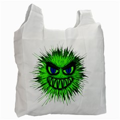 Monster Green Evil Common Recycle Bag (Two Side)