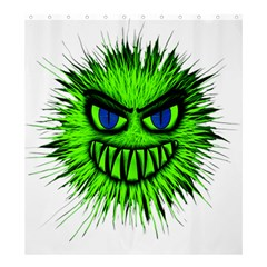 Monster Green Evil Common Shower Curtain 66  x 72  (Large)