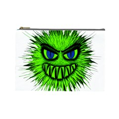 Monster Green Evil Common Cosmetic Bag (Large)