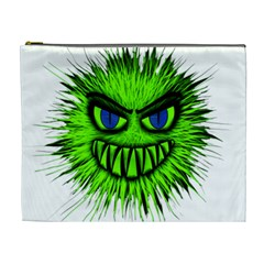 Monster Green Evil Common Cosmetic Bag (XL)