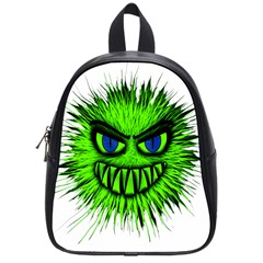 Monster Green Evil Common School Bags (Small)