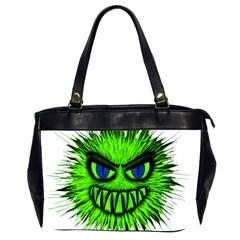 Monster Green Evil Common Office Handbags (2 Sides)