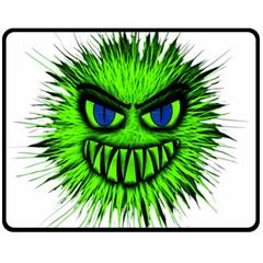 Monster Green Evil Common Fleece Blanket (Medium)