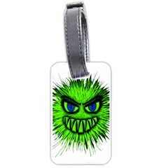 Monster Green Evil Common Luggage Tags (Two Sides)