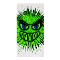 Monster Green Evil Common Shower Curtain 36  x 72  (Stall)
