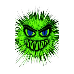 Monster Green Evil Common Shower Curtain 48  x 72  (Small)
