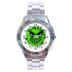 Monster Green Evil Common Stainless Steel Analogue Watch