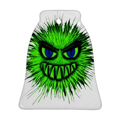 Monster Green Evil Common Bell Ornament (Two Sides)