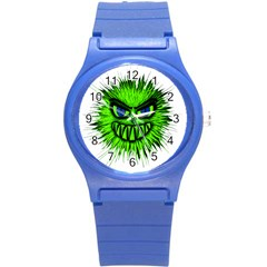 Monster Green Evil Common Round Plastic Sport Watch (S)