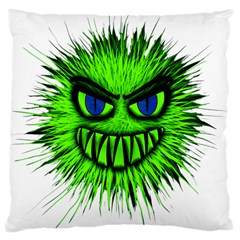 Monster Green Evil Common Large Cushion Case (One Side)