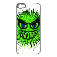 Monster Green Evil Common Apple iPhone 5 Case (Silver)