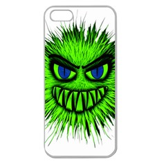 Monster Green Evil Common Apple Seamless iPhone 5 Case (Clear)