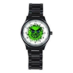 Monster Green Evil Common Stainless Steel Round Watch