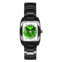 Monster Green Evil Common Stainless Steel Barrel Watch