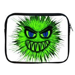 Monster Green Evil Common Apple iPad 2/3/4 Zipper Cases