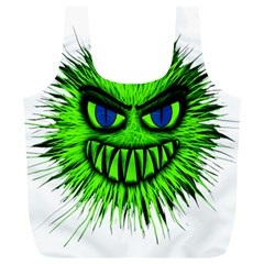 Monster Green Evil Common Full Print Recycle Bags (L)