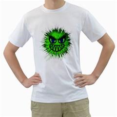 Monster Green Evil Common Men s T-Shirt (White)