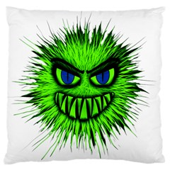Monster Green Evil Common Standard Flano Cushion Case (One Side)