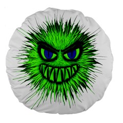 Monster Green Evil Common Large 18  Premium Flano Round Cushions