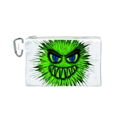 Monster Green Evil Common Canvas Cosmetic Bag (S)