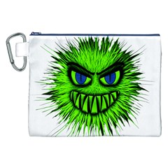 Monster Green Evil Common Canvas Cosmetic Bag (XXL)
