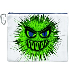 Monster Green Evil Common Canvas Cosmetic Bag (XXXL)