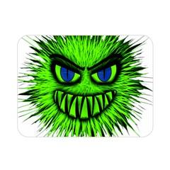 Monster Green Evil Common Double Sided Flano Blanket (Mini)