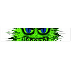 Monster Green Evil Common Flano Scarf (Large)