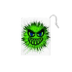 Monster Green Evil Common Drawstring Pouches (xs)