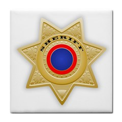 Sheriff S Star Sheriff Star Chief Tile Coasters