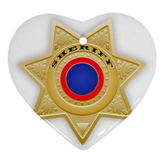 Sheriff S Star Sheriff Star Chief Ornament (Heart)