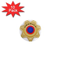 Sheriff S Star Sheriff Star Chief 1  Mini Magnet (10 pack)