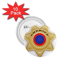 Sheriff S Star Sheriff Star Chief 1 75  Buttons (10 Pack)