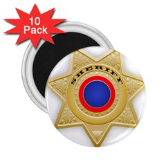 Sheriff S Star Sheriff Star Chief 2.25  Magnets (10 pack)