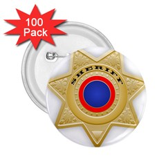 Sheriff S Star Sheriff Star Chief 2.25  Buttons (100 pack)