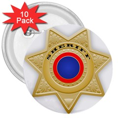 Sheriff S Star Sheriff Star Chief 3  Buttons (10 pack)