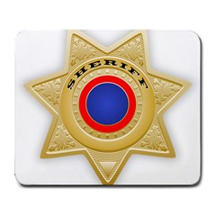 Sheriff S Star Sheriff Star Chief Large Mousepads