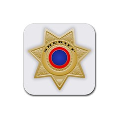 Sheriff S Star Sheriff Star Chief Rubber Square Coaster (4 pack)