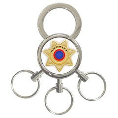 Sheriff S Star Sheriff Star Chief 3-Ring Key Chains
