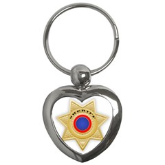 Sheriff S Star Sheriff Star Chief Key Chains (Heart)