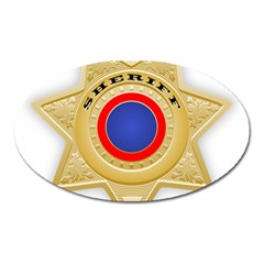 Sheriff S Star Sheriff Star Chief Oval Magnet