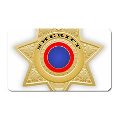Sheriff S Star Sheriff Star Chief Magnet (Rectangular)