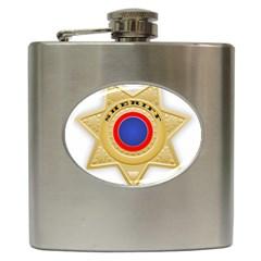 Sheriff S Star Sheriff Star Chief Hip Flask (6 oz)