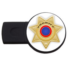 Sheriff S Star Sheriff Star Chief USB Flash Drive Round (1 GB)